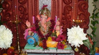 Lord Ganesh at my friend Swapnil's