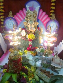 Lord Ganesh at my friend Shreya's